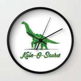 Kale Art for Vegans, Vegetarians & Dinosaur Lovers Light Wall Clock