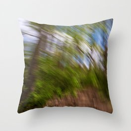 Abstract Forest Streaks Throw Pillow