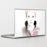 mia wallace Laptop & iPad Skins featuring Mia by De Baluret