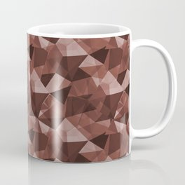 Abstract Geometrical Triangle Patterns 4 Dunn Edwards Spice of Life DET439 Coffee Mug
