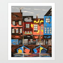 Picturesque And Docked Art Print