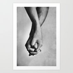 Hold me tight Art Print