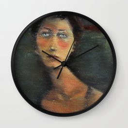 painting in the style of Modigliani Wall Clock