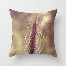 summer rain Throw Pillow