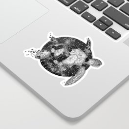 Cosmic Turtle Sticker