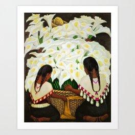 Vendedora de Alcatraces - Calla Lily Flower Sellers by Diego Rivera Art Print