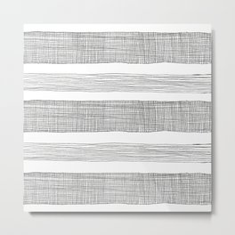 simple crosshatch stripes Metal Print