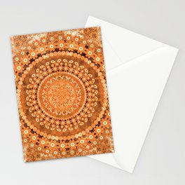 Boho Pumpkin Spice Mandala Stationery Cards