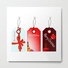Christmas Tag Set Metal Print