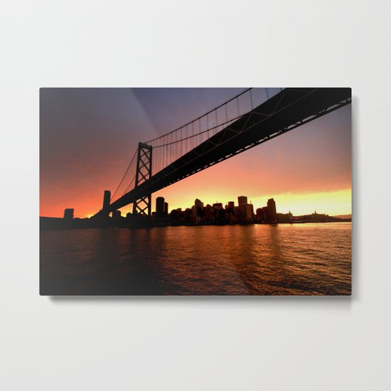 """I'm sittin' on the dock of the bay..."" Metal Print"