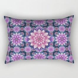 Embroidered pink & purple Rectangular Pillow