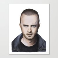 jesse pinkman Canvas Prints featuring Jesse Pinkman by Ethan Gulley
