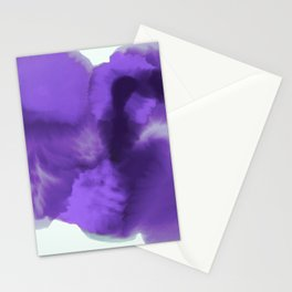 Abstract Watercolor Ultra Violet Stationery Cards