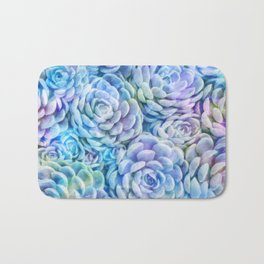 Rainbow succulents Bath Mat