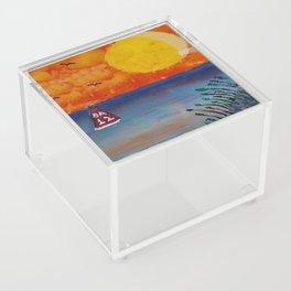 Tropical Beach Acrylic Box