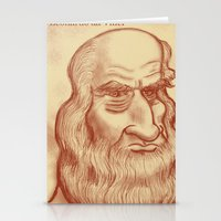 da vinci Stationery Cards featuring Leonardo da Vinci by Roberto Núñez
