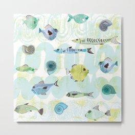 Blue Green Fish Peak hour Metal Print