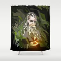 gandalf Shower Curtains featuring THE LORD OF THE RINGS GANDALF by Graphic Craft