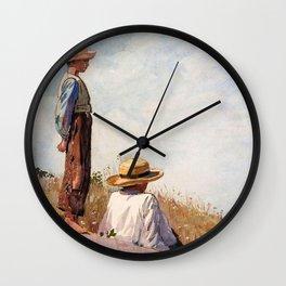 12,000pixel-500dpi - Winslow Homer1 - The Blue Boy - Digital Remastered Edition Wall Clock