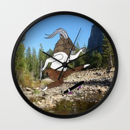 Baphomet's sixth failed attempt over a creek in Yosemite, which resulted in him focusing his board. Wall Clock