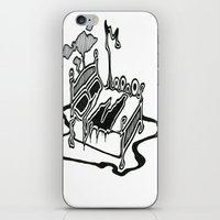 dessert iPhone & iPod Skins featuring Dessert by Abstractink82