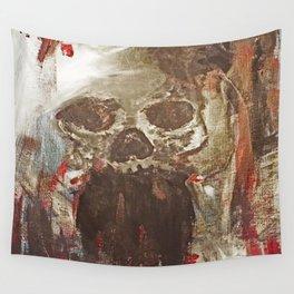 Happy Skull Wall Tapestry