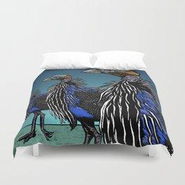 Exotoc birds - Vulturine Guineafowl Duvet Cover