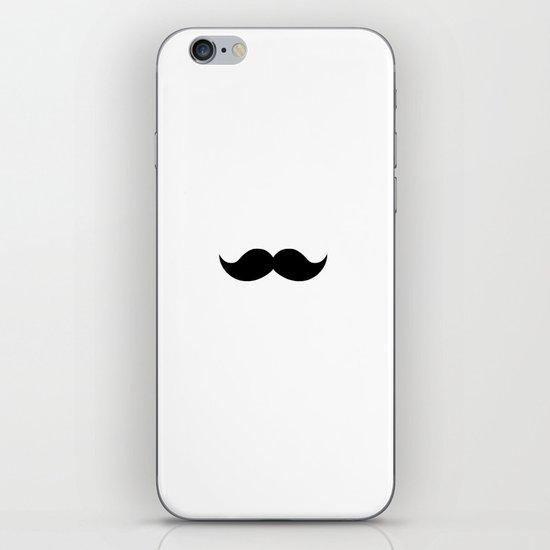white mustache iPhone & iPod Skin