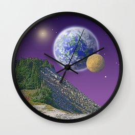 "NO WORLD IS ""ALIEN"" Wall Clock"