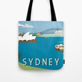 Sydney Harbour Retro Art Print Tote Bag