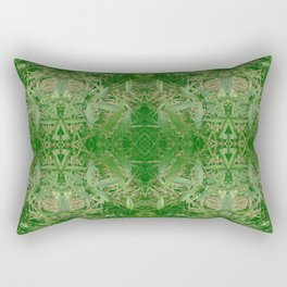 Leafy Dreams Mandala Rectangular Pillow