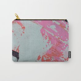 Coffee Date: a vibrant abstract mixed-media piece in pinks and teal by Alyssa Hamilton Art Carry-All Pouch
