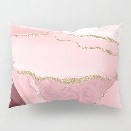 Blush Marble Art Landscape Pillow Sham