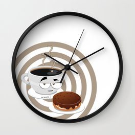cup of thinking Wall Clock