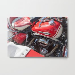 Harley w/sidecar Metal Print