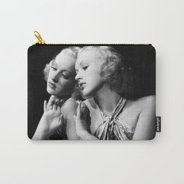 Betty Grable, Hollywood Starlet black and white photograph / art portrait  Carry-All Pouch