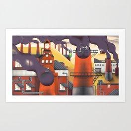Wafting Warehouse Art Print