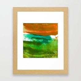 Encaustic Abstract No.27M by Kathy Morton Stanion Framed Art Print