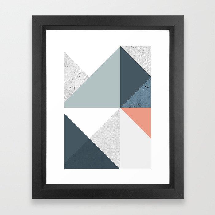 Modern Geometric 12 Framed Art Print