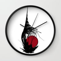 asian Wall Clocks featuring Asian Sun by Digital-Art