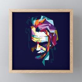 joker in colorful popart style Framed Mini Art Print