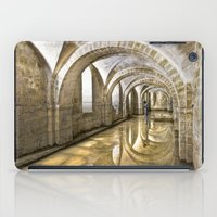 winchester iPad Cases featuring Winchester Cathedral Crypt by Alice Gosling