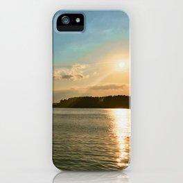 Smith Mountain Sunset. iPhone Case