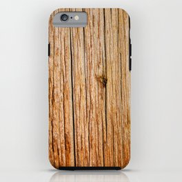 Power Pole Wood Grain iPhone Case
