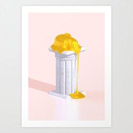 Golden Misery Art Print
