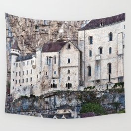 Medieval Facade of the French Castle in Rocamadour Wall Tapestry