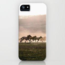 Wild Horse Run iPhone Case