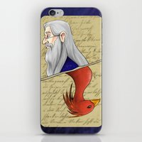 dumbledore iPhone & iPod Skins featuring Albus Dumbledore by Imaginative Ink
