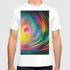 Abstract Perfektion - Atrium White Mens Fitted Tee MEDIUM
