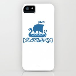Drgon Boat - Blue iPhone Case